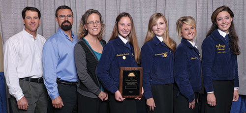 2012 FFA Dairy Cattle Evaluation and Management Team Champions from Petaluma FFA in California
