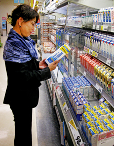 Japanese dairy case