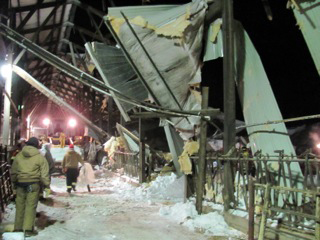 Minglewood barn collapse