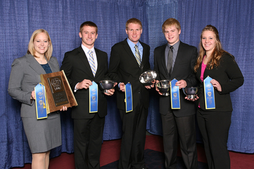 Minnesota 4-H dairy judging team