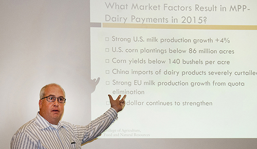 dairy economist Scott Brown