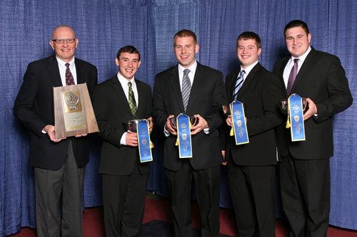 Minnesota dairy judging team