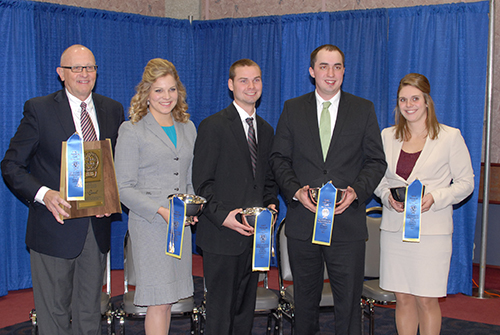 University of Minnesota dairy judging team