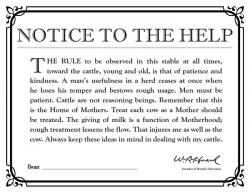 Notice To The Help sign